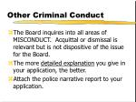 other criminal conduct