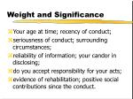 weight and significance