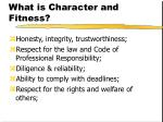 what is character and fitness