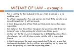 mistake of law example
