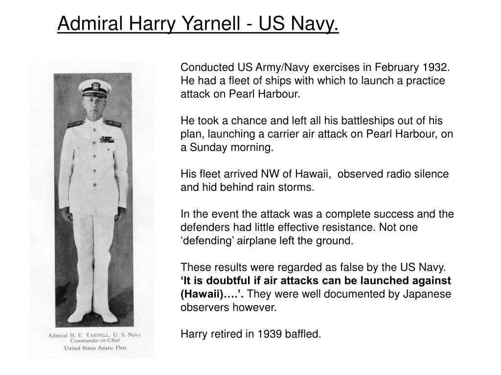 Admiral Harry Yarnell - US Navy.