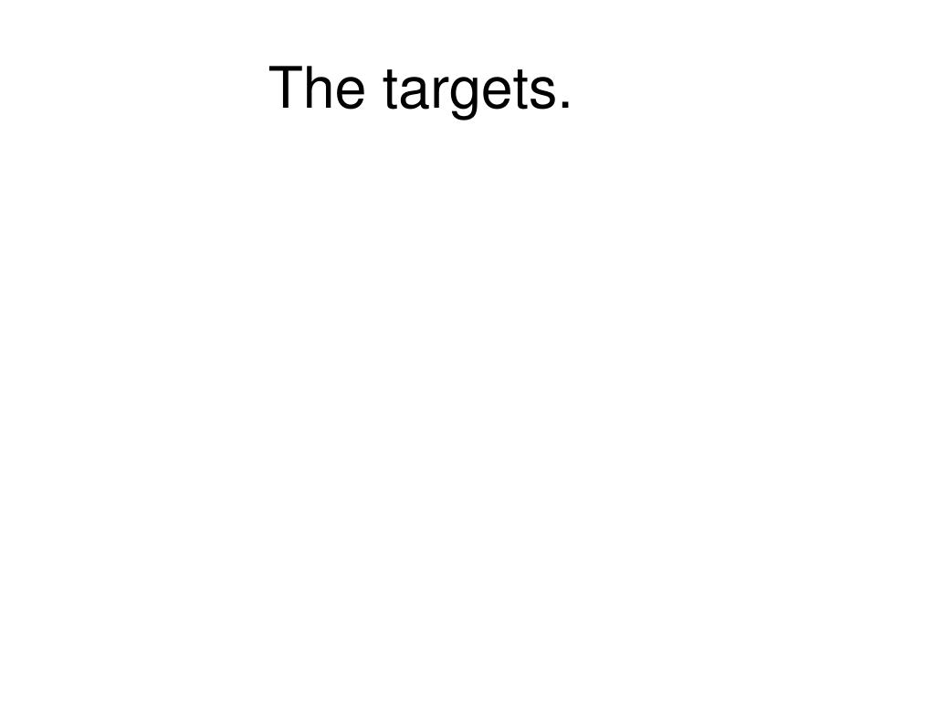 The targets.