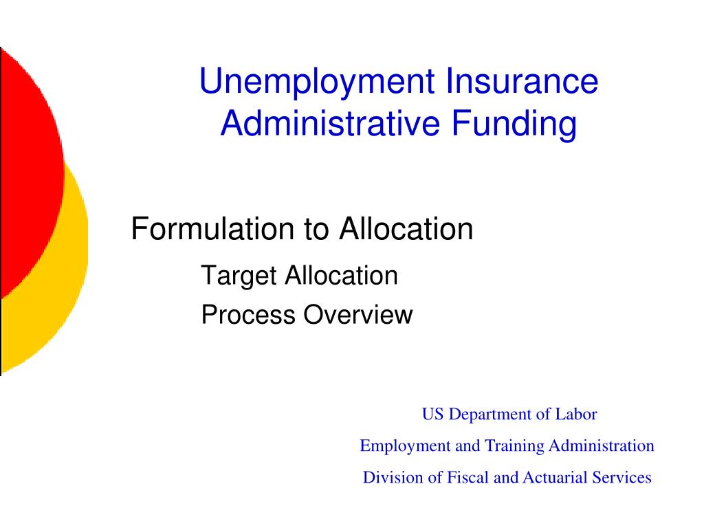 unemployment insurance administrative funding l.