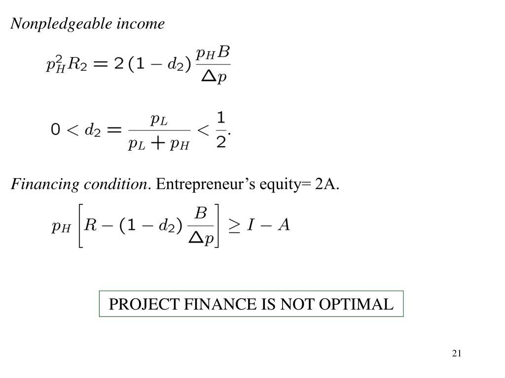 Nonpledgeable income