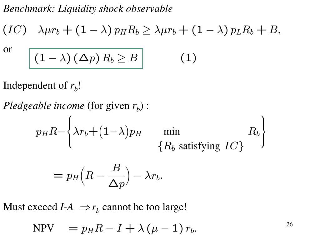 Benchmark: Liquidity shock observable