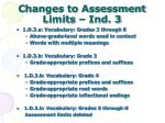 changes to assessment limits ind 3