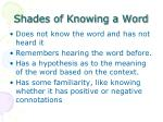 shades of knowing a word