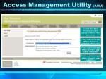 access management utility amu