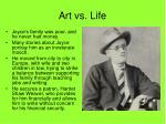 art vs life