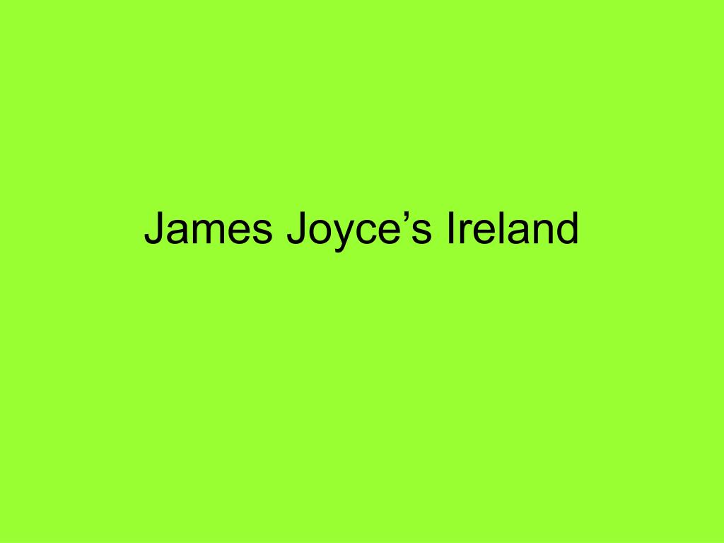 james joyce s ireland l.