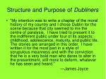 structure and purpose of dubliners