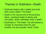 themes in dubliners death