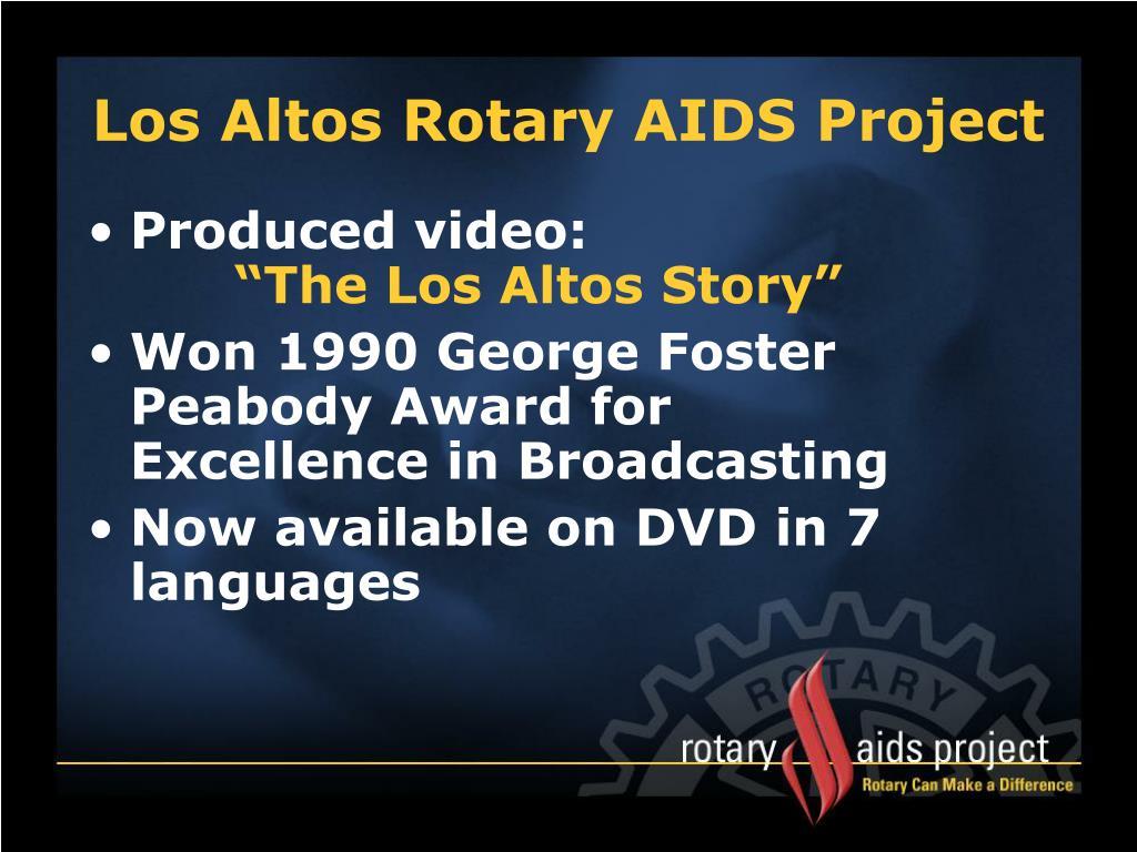 Los Altos Rotary AIDS Project