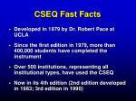 cseq fast facts