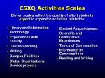 csxq activities scales