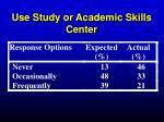 use study or academic skills center