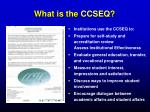 what is the ccseq