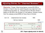 adjusting entries for unearned revenues33