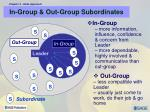 in group out group subordinates