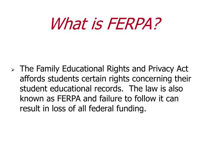 What is ferpa