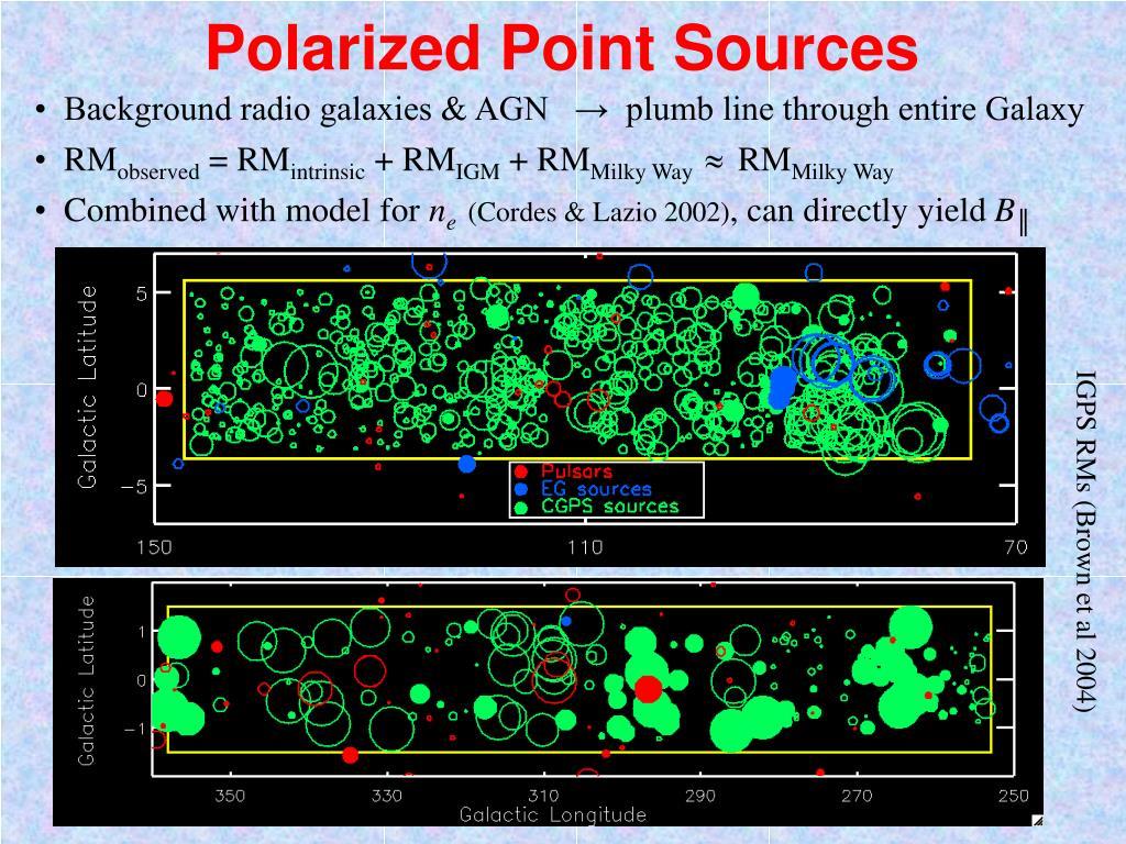 Polarized Point Sources