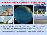the international galactic plane survey