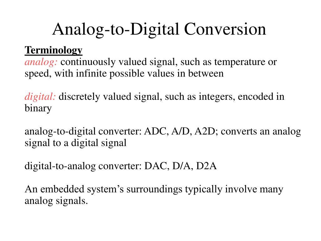 analog to digital conversion l.