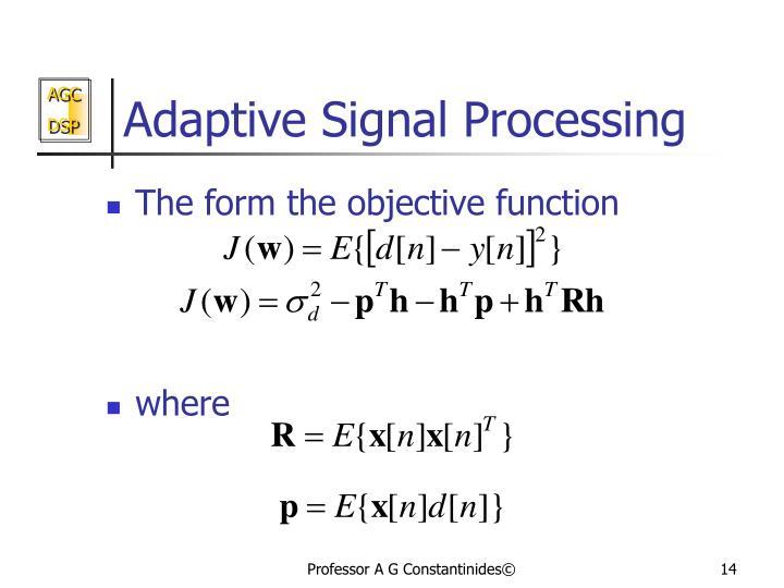 Adaptive Signal Processing