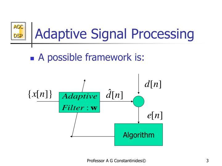 Adaptive signal processing2