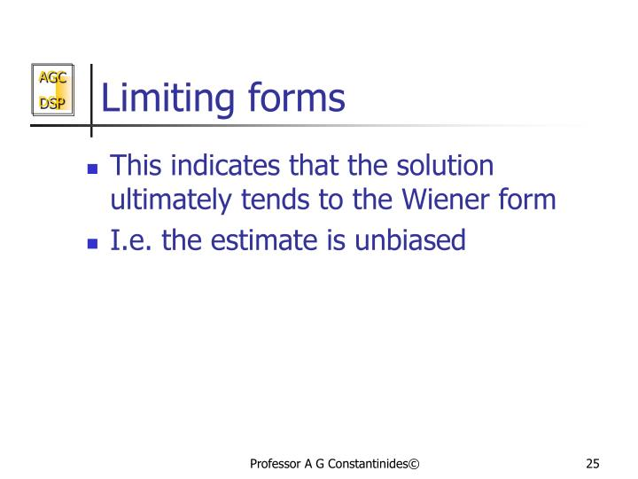 Limiting forms