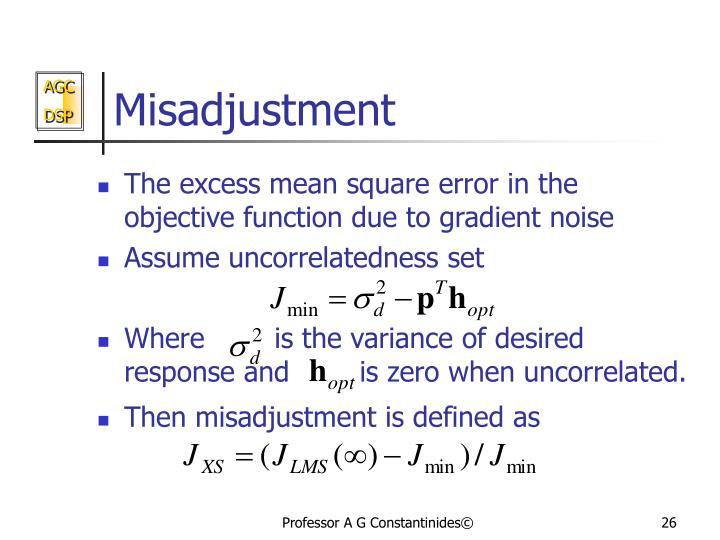 Misadjustment