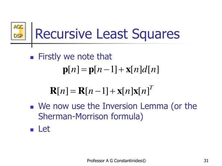 Recursive Least Squares