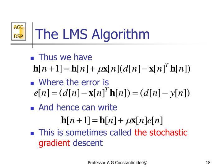 The LMS Algorithm
