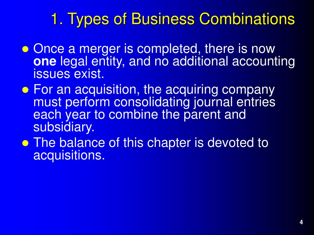 Once a merger is completed, there is now