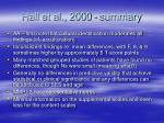hall et al 2000 summary