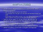 mmpi a 1992