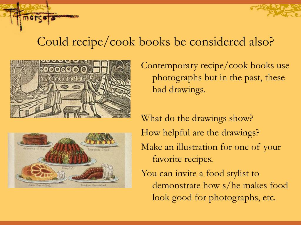Could recipe/cook books be considered also?