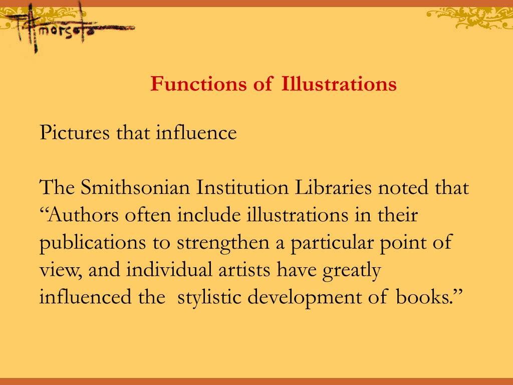Functions of Illustrations