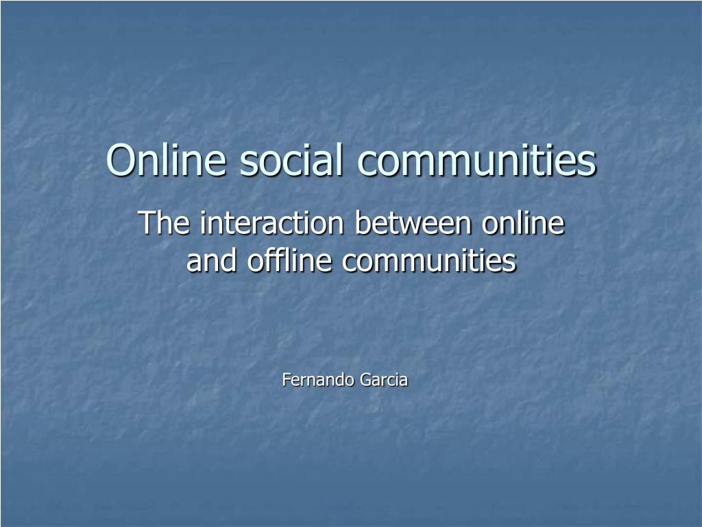 online social communities l.