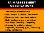 pain assessment observations