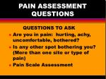 pain assessment questions