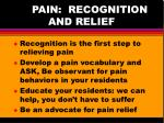 pain recognition and relief17