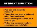 resident education