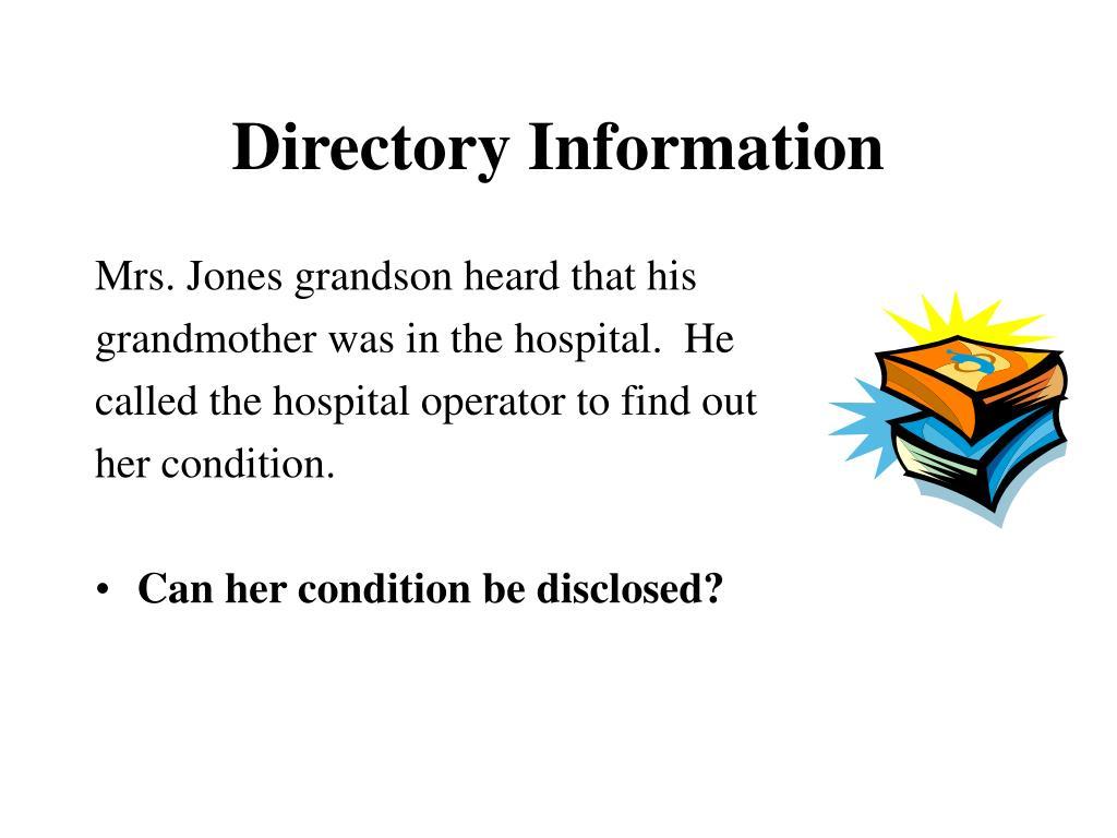Mrs. Jones grandson heard that his