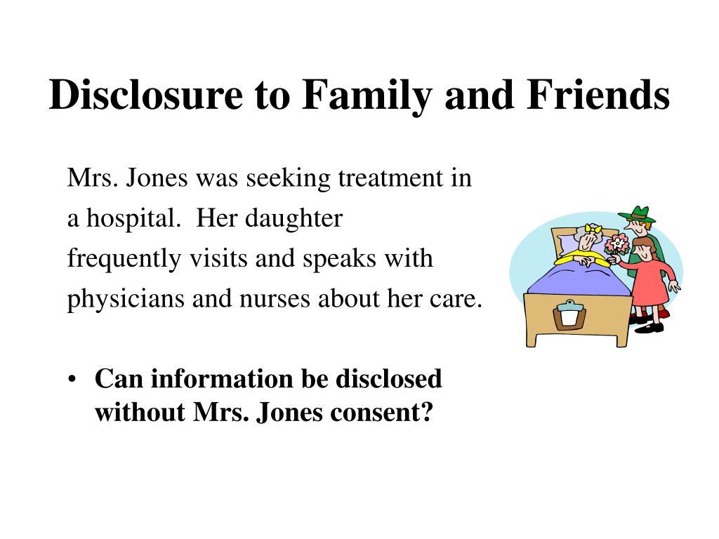 Mrs. Jones was seeking treatment in