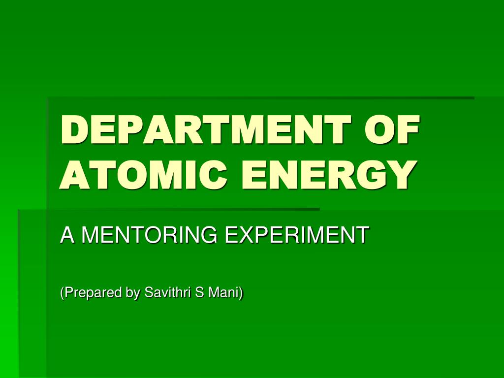 department of atomic energy l.
