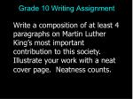 grade 10 writing assignment82