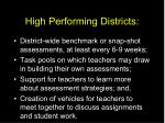high performing districts