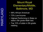 mount royal elementary middle baltimore md
