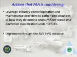 actions that faa is considering48